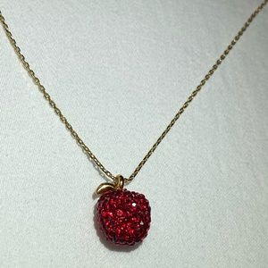 Kate Spade Red Apple necklace